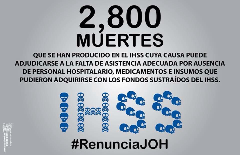 Las muertes inducidas en el IHSS por la corrupción del Partido Nacional de Honduras