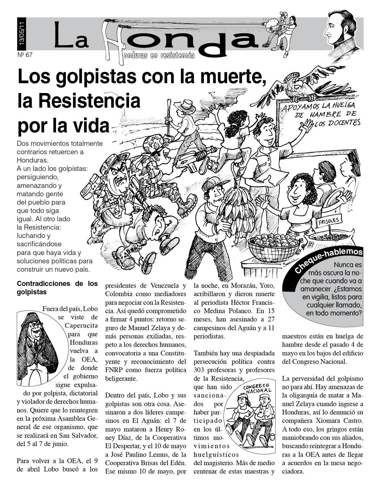 La Honda 67: Los Golpistas con la muerte, la Resistencia por la vida