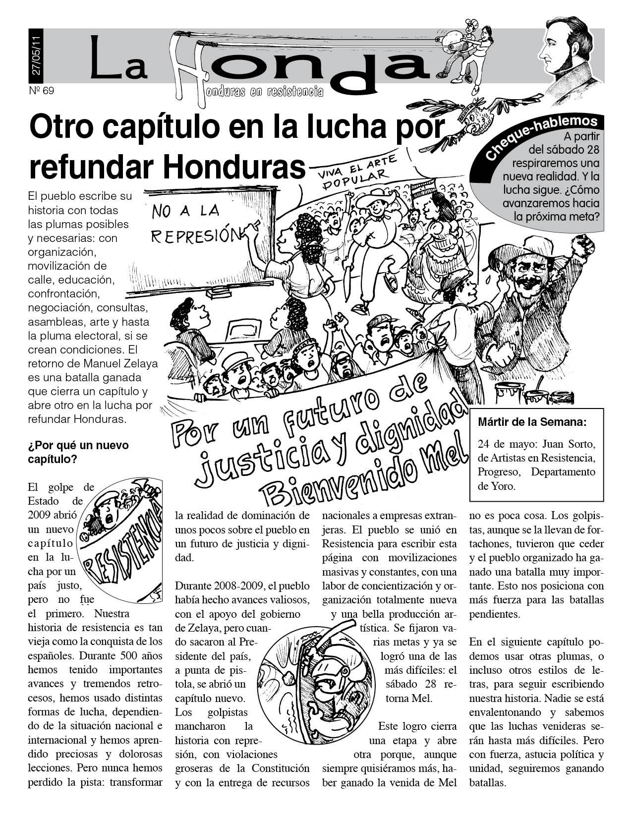 La Honda 69: Otro capítulo en la lucha por refundar Honduras