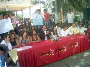 Libre no asistió a reuniones parlamentarias en Lempira y protestó en bajos del Congreso