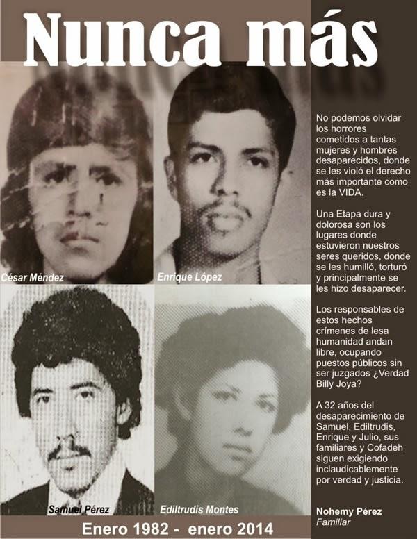 Honduras: 32 AÑOS DE SU DESAPARICIÓN