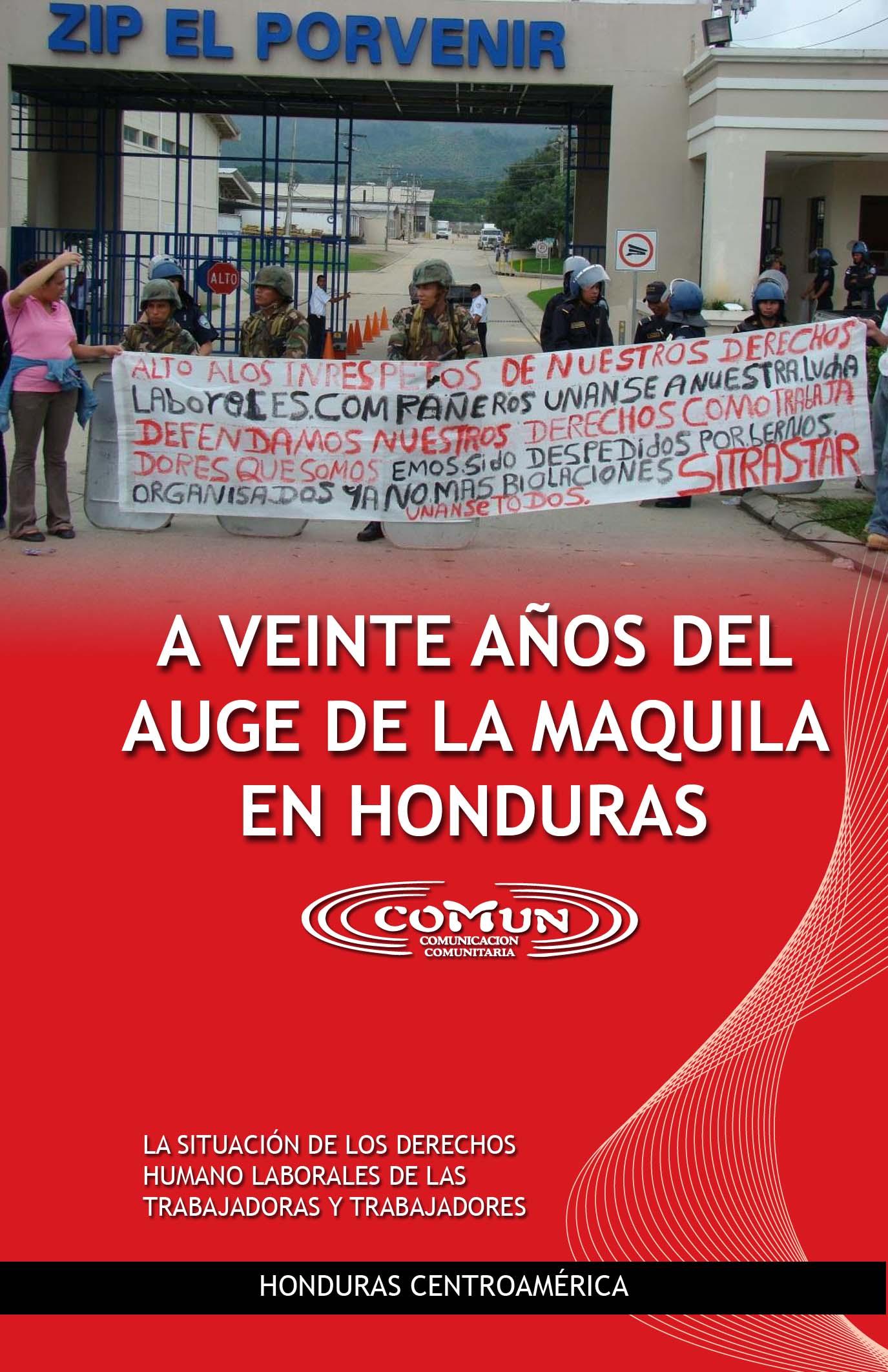 A 20 años del auge de la maquila en Honduras