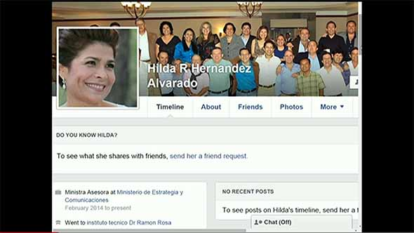 Ministra Facebook