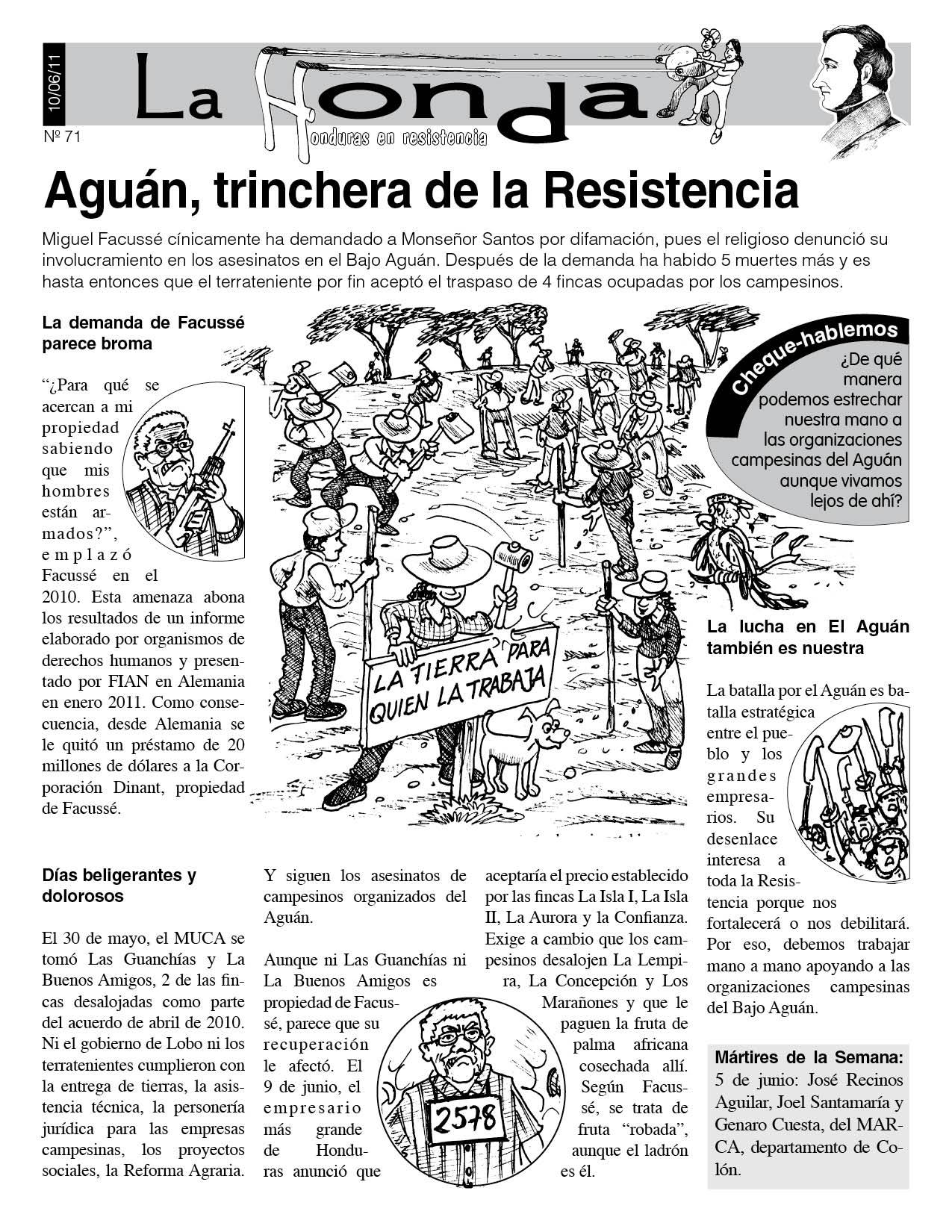 La Honda 71: Aguán, trinchera de la Resistencia