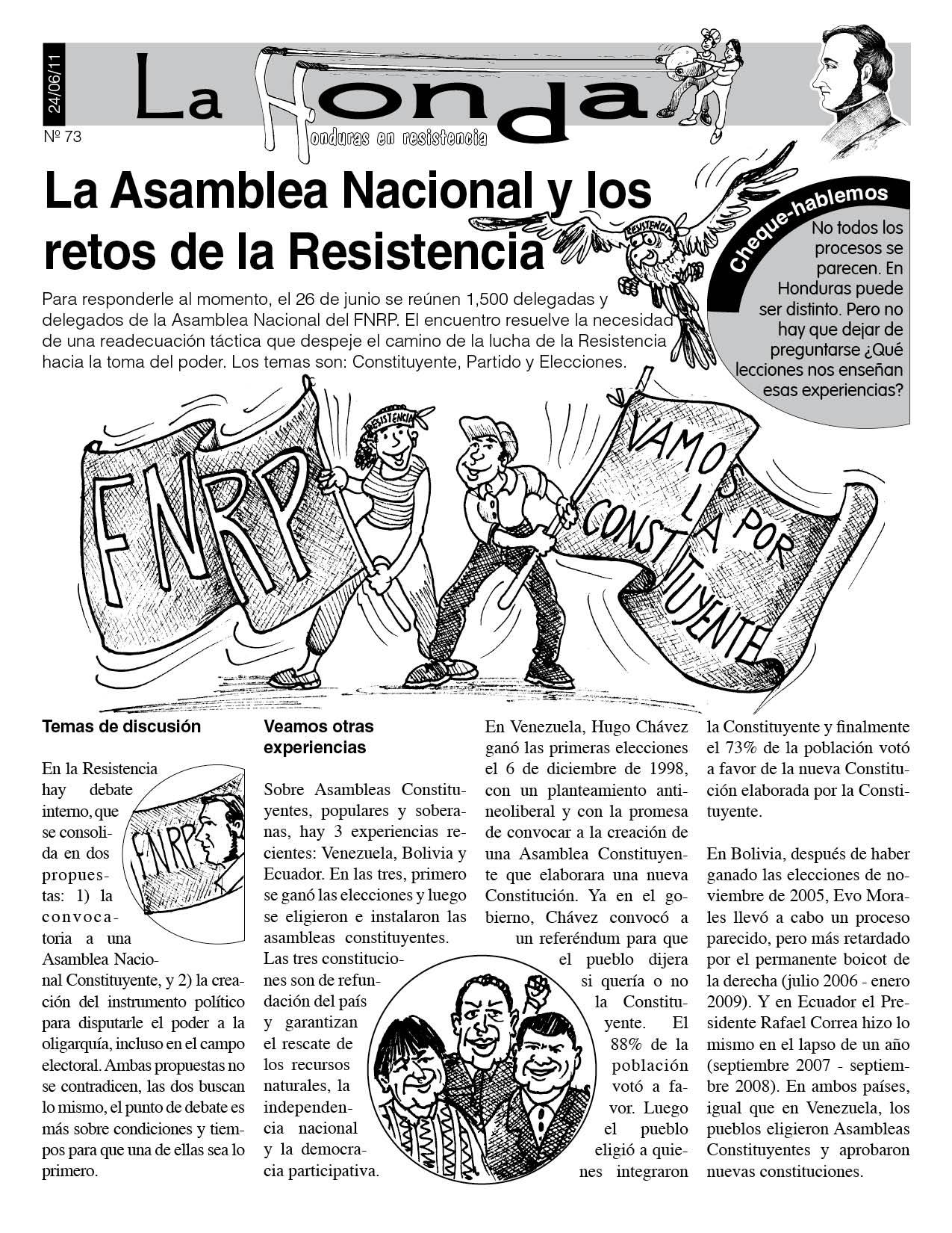 La Honda 73: La Asamblea Nacional y los retos de la Resistencia