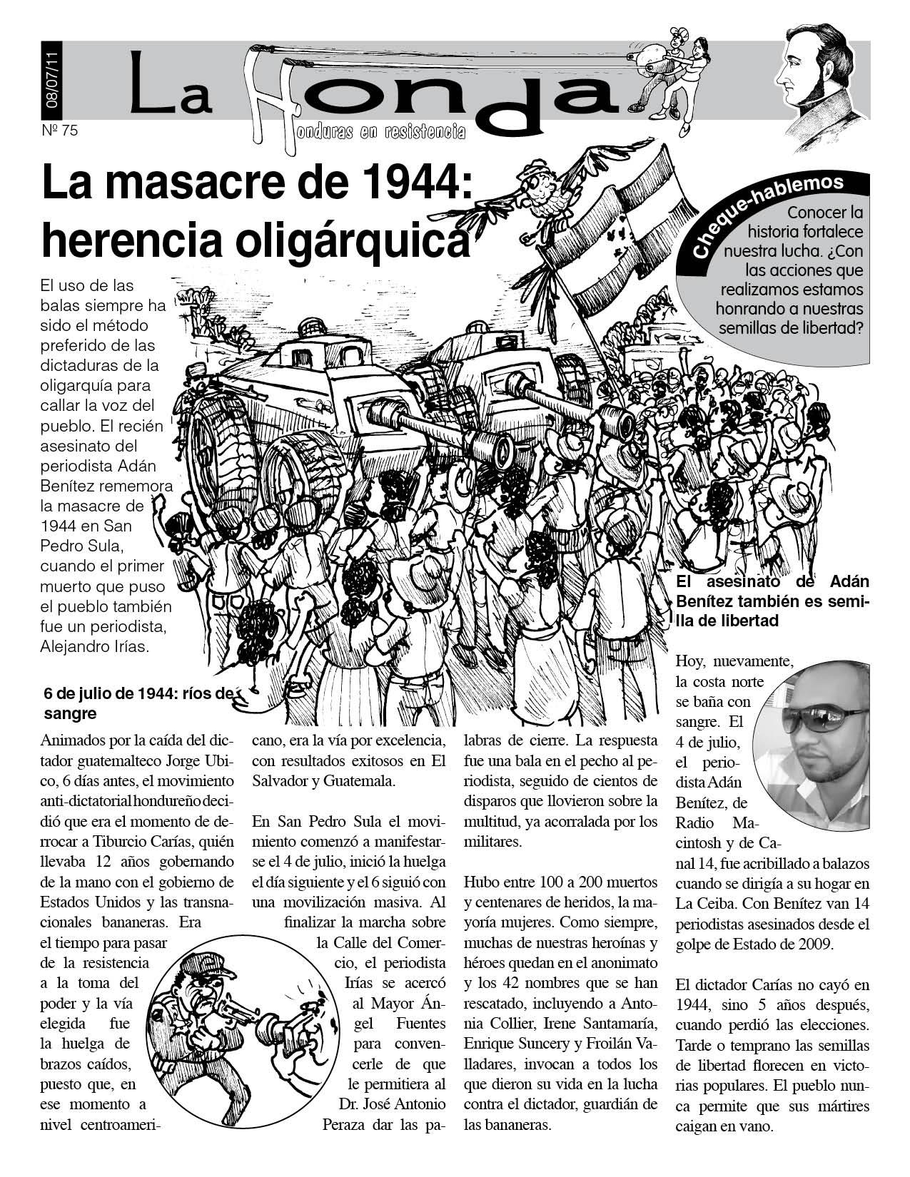 La Honda 75: La masacre de 1944: herencia oligárquica