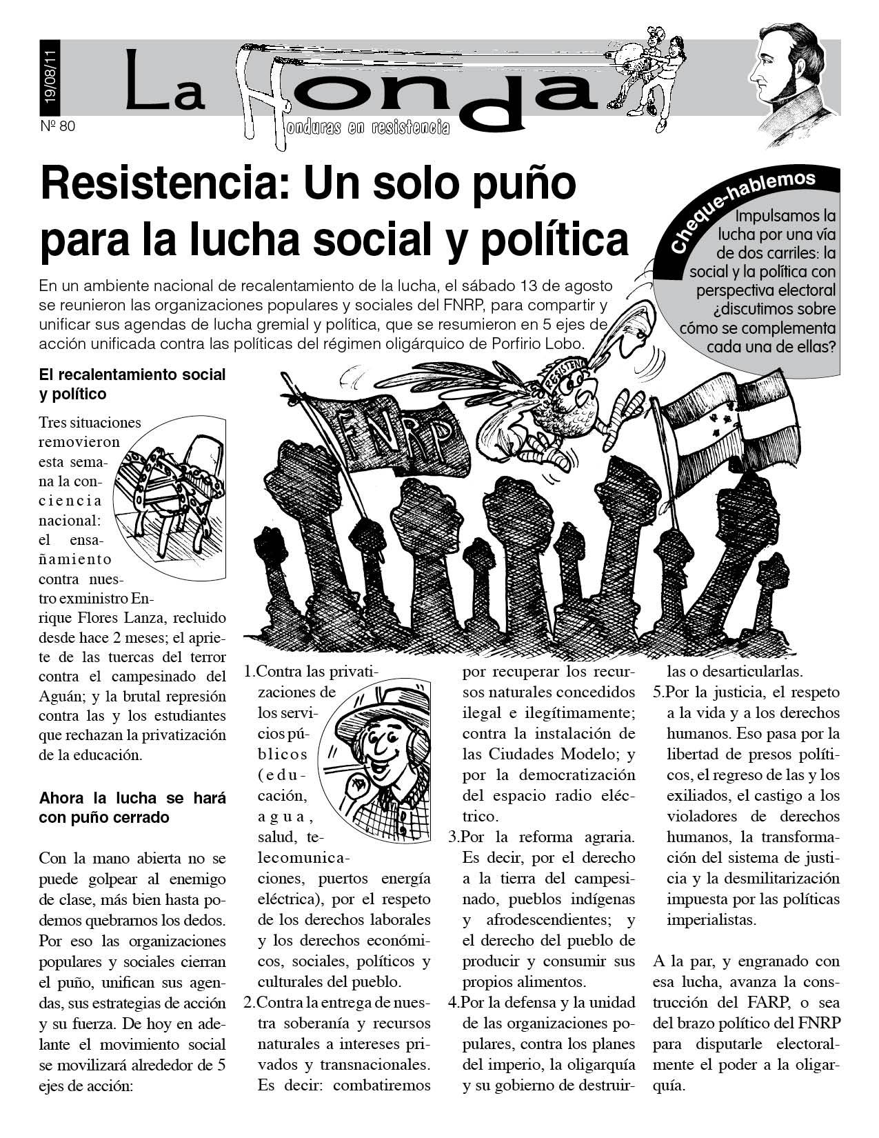 La Honda 80: Resistencia un solo puño para la lucha social y política