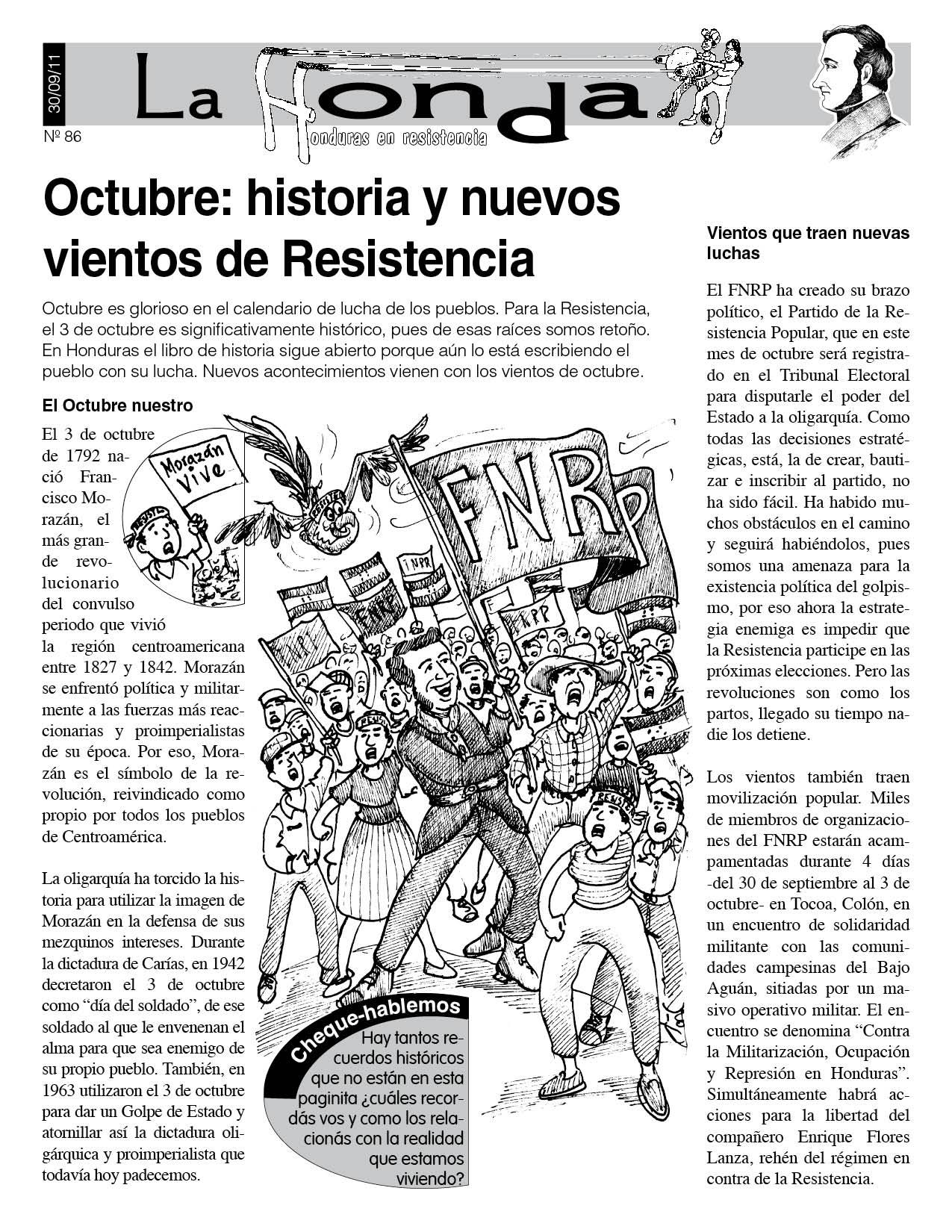 La Honda 86: Octubre: historia y nuevos vientos de Resistencia