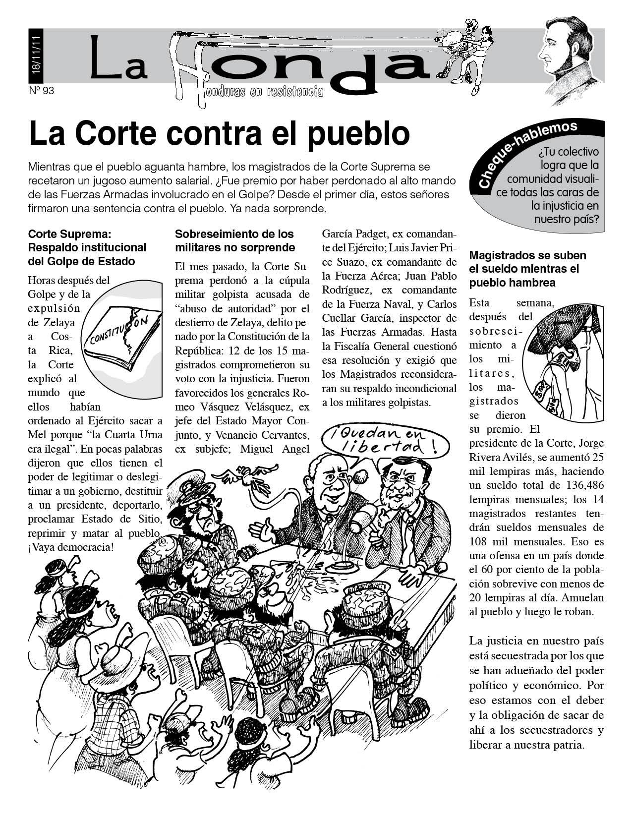 La Honda 93: La Corte contra el pueblo