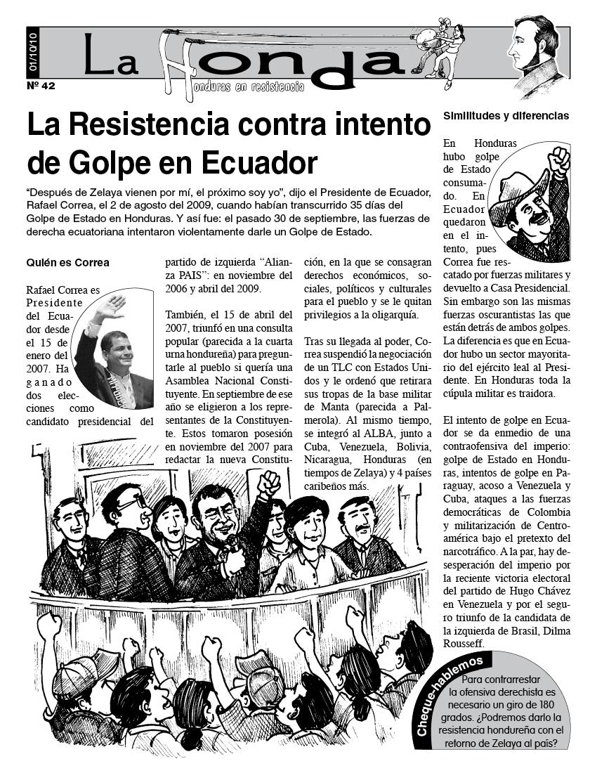 La Honda # 42 La Resistencia contra intento de Golpe en Ecuador