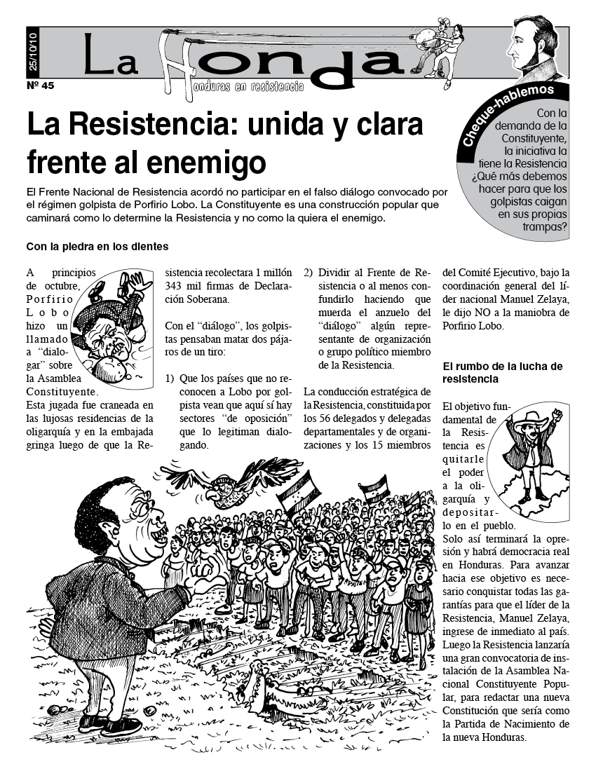 La Honda 45 : La Resistencia: unida y clara frente al enemigo