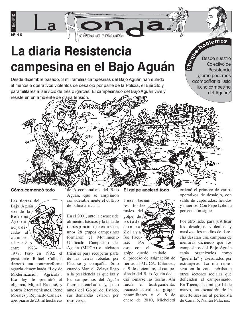 La Honda #16 La diaria Resistencia campesina en el Bajo Aguán