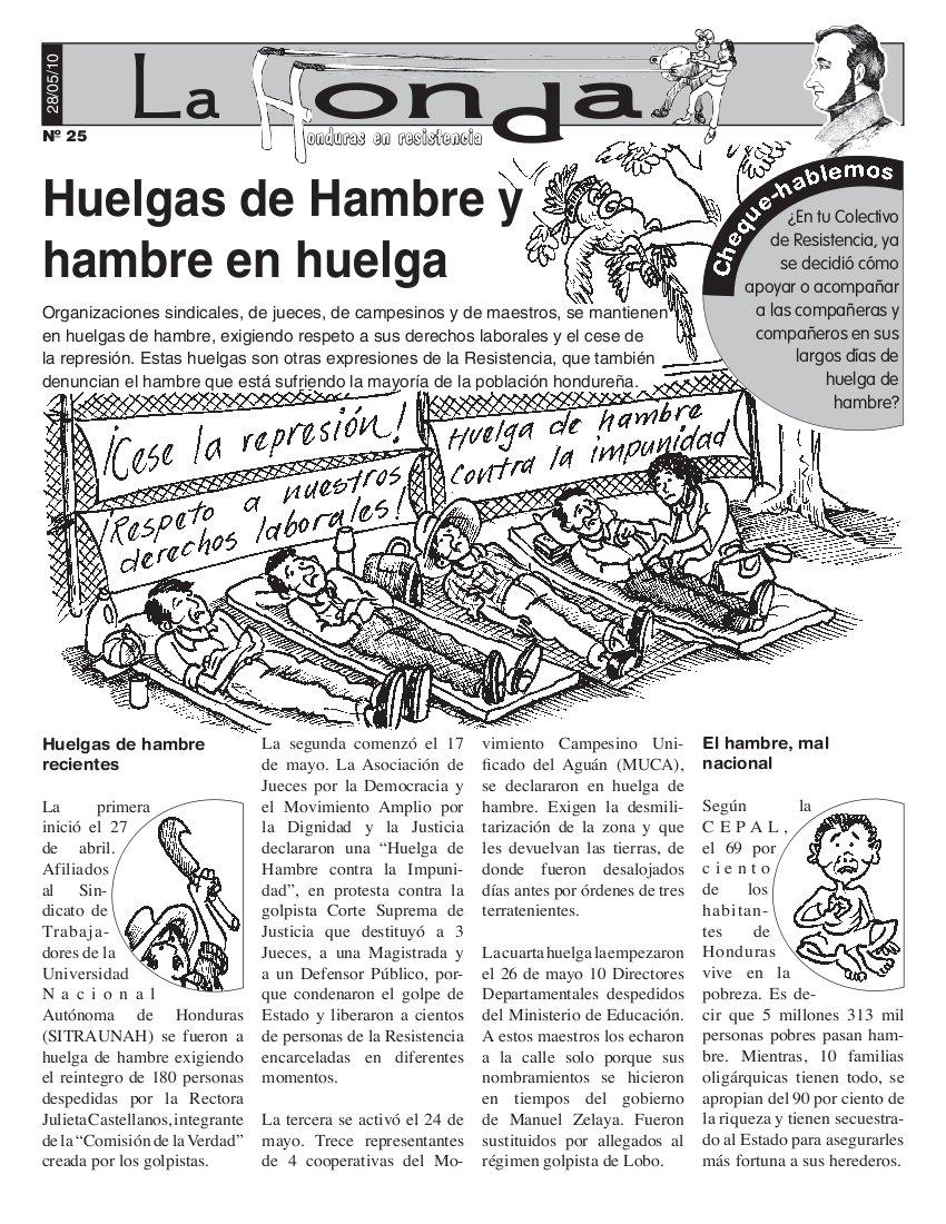 La Honda #25 Huelgas de Hambre y hambre en huelga