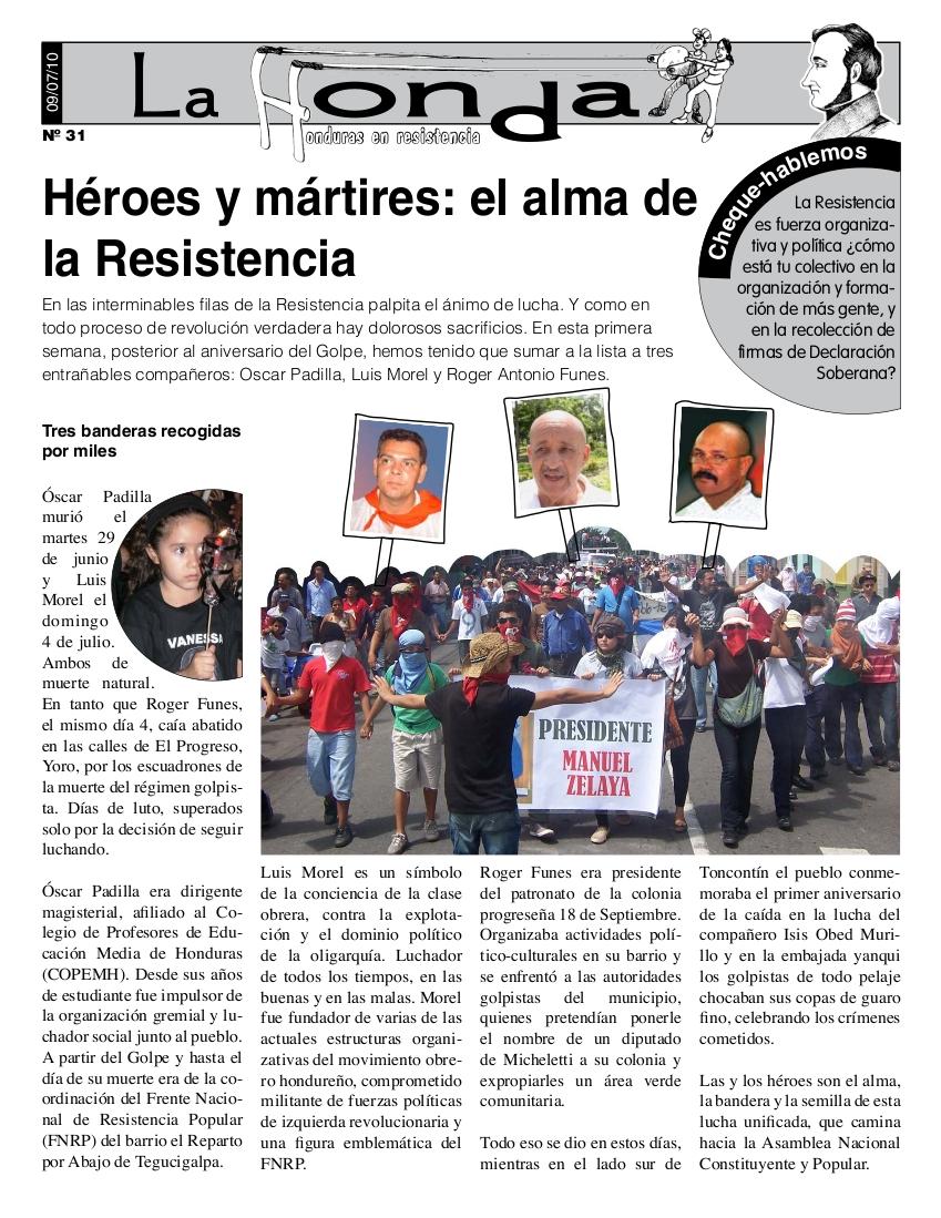 La Honda # 31 : Héroes y mártires: el alma de la Resistencia