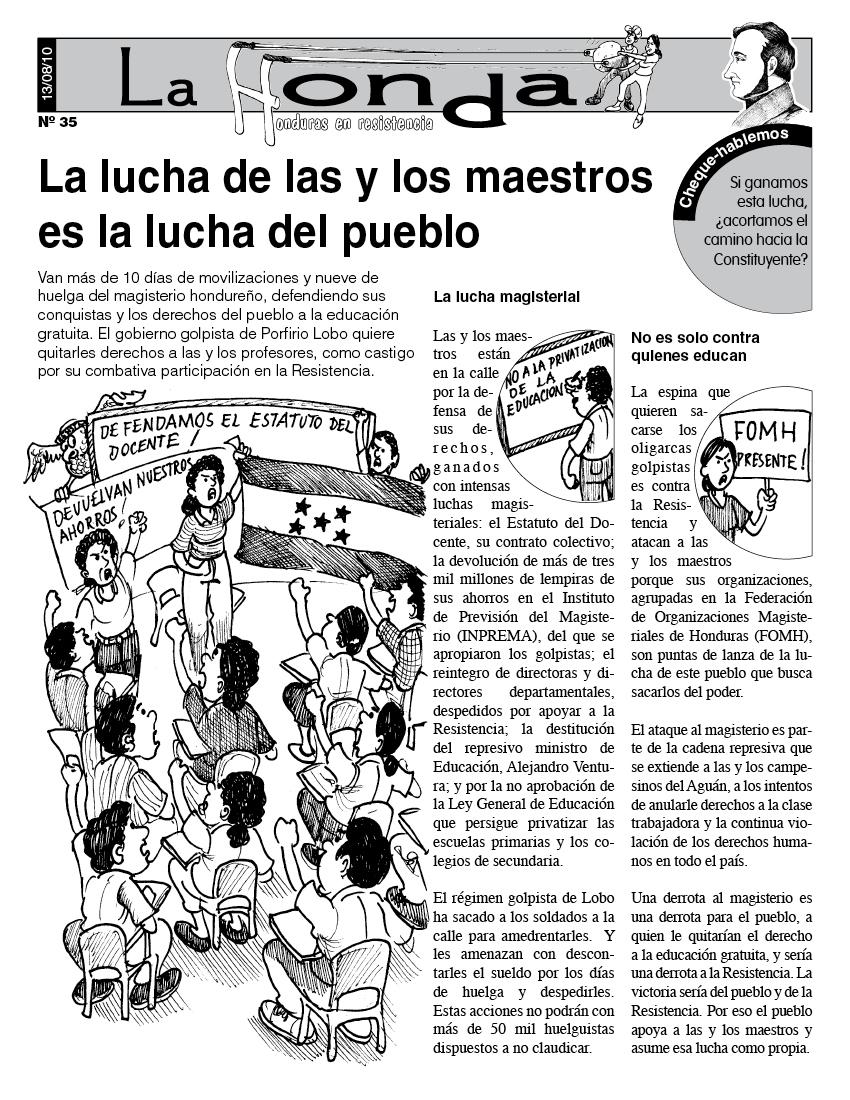 La Honda # 35 La lucha de las y los maestros es la lucha del pueblo
