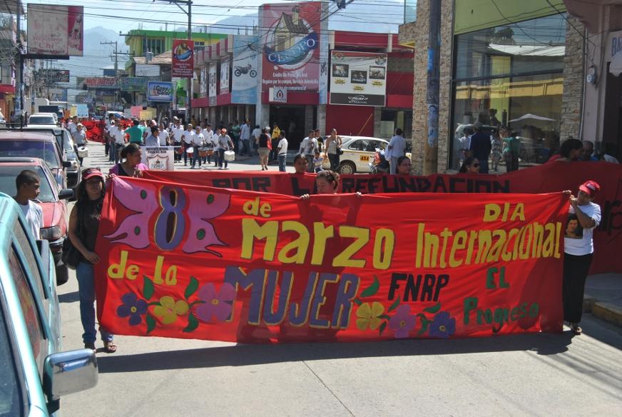 8 MARZO: Mujeres de Yoro se movilizan y se organizan para la lucha