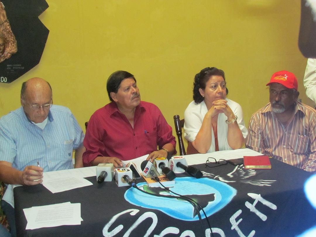 Rafael Alegria en conferencia de prensa