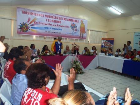 El VII encuentro de los Movimientos Sociales de las Américas y del Caribe se solidariza con el pueblo de Honduras